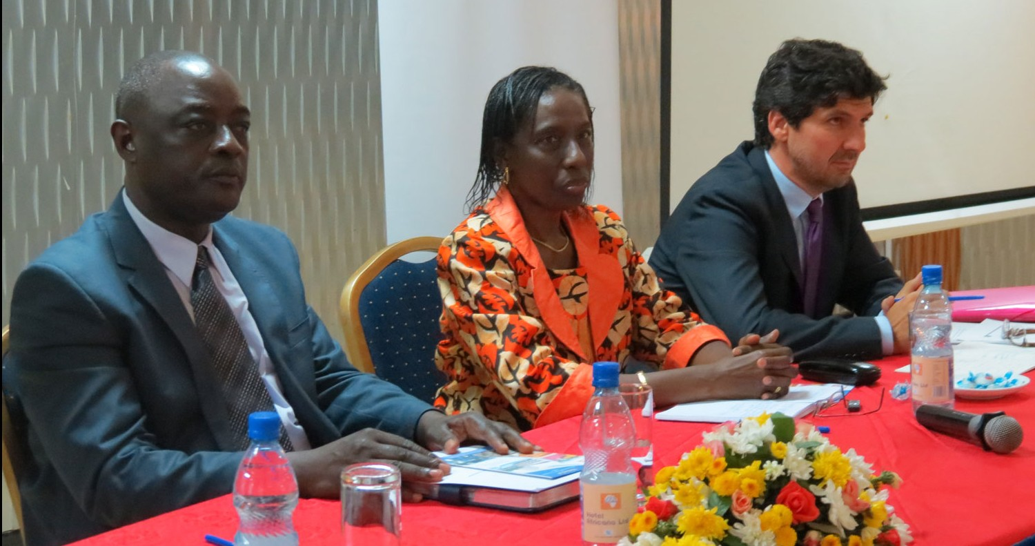 From the left: Hon. Vincent B. Ssempijja, Minister of State for Agriculture, Animal Industry and Fisheries (MAAIF), Mariam Sow Soumare, NEPAD; Jesus Anton, PARM/IFAD.