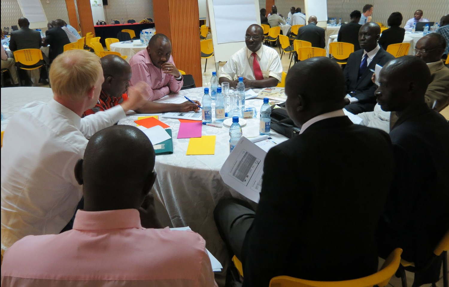 Participants during the working group session for risk prioritization