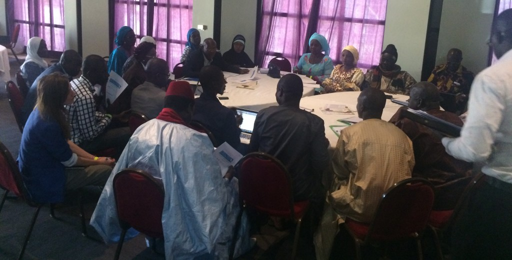 National stakeholders engaged in group discussions on specific agricultural risk management issues.